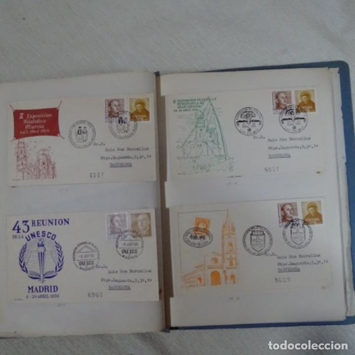 Sellos: Album 111 sobres con sellos y matasellos especiales.años1955-56.bien detallado. - Foto 23 - 155867802