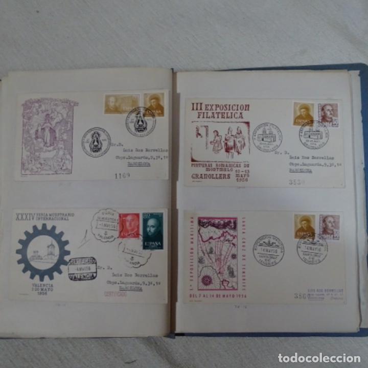 Sellos: Album 111 sobres con sellos y matasellos especiales.años1955-56.bien detallado. - Foto 24 - 155867802