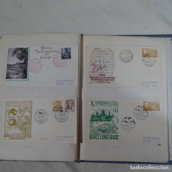 Sellos: Album 111 sobres con sellos y matasellos especiales.años1955-56.bien detallado. - Foto 25 - 155867802