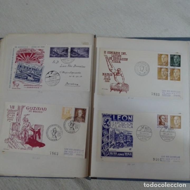 Sellos: Album 111 sobres con sellos y matasellos especiales.años1955-56.bien detallado. - Foto 26 - 155867802