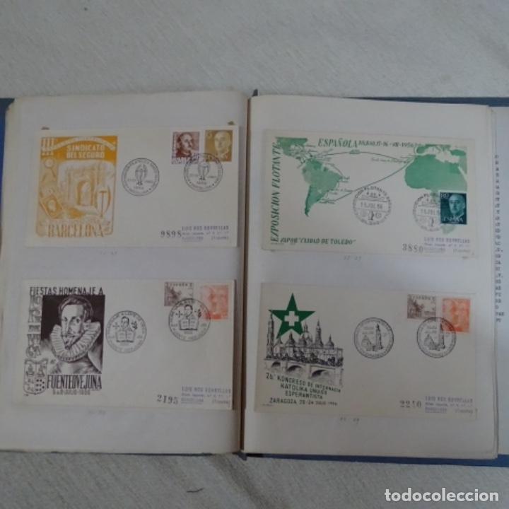 Sellos: Album 111 sobres con sellos y matasellos especiales.años1955-56.bien detallado. - Foto 27 - 155867802