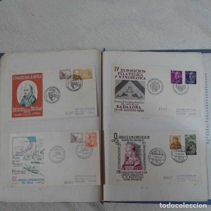 Sellos: Album 111 sobres con sellos y matasellos especiales.años1955-56.bien detallado. - Foto 28 - 155867802
