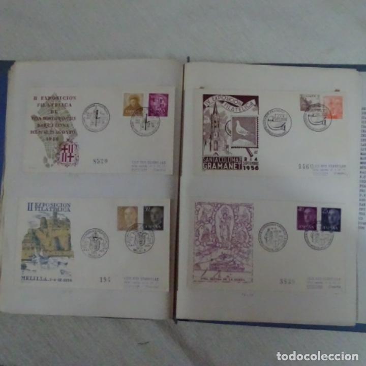 Sellos: Album 111 sobres con sellos y matasellos especiales.años1955-56.bien detallado. - Foto 29 - 155867802