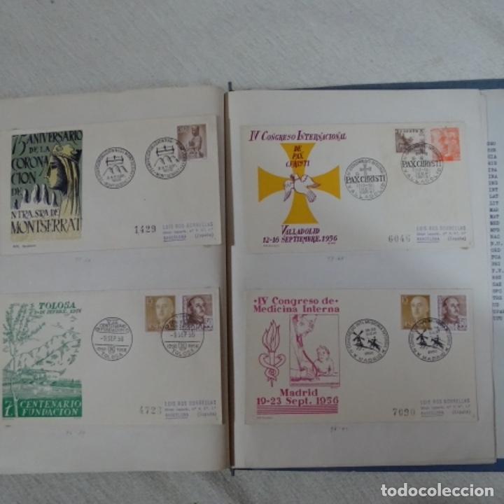 Sellos: Album 111 sobres con sellos y matasellos especiales.años1955-56.bien detallado. - Foto 30 - 155867802