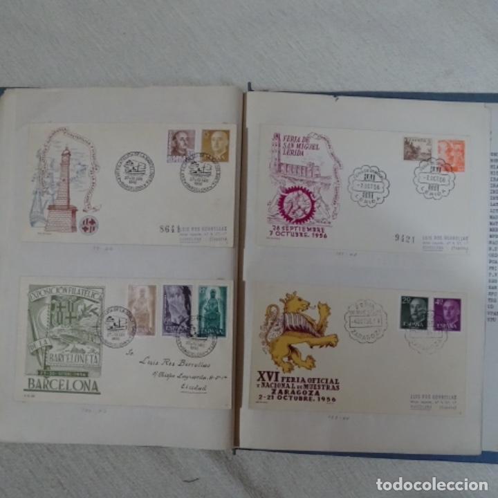 Sellos: Album 111 sobres con sellos y matasellos especiales.años1955-56.bien detallado. - Foto 31 - 155867802