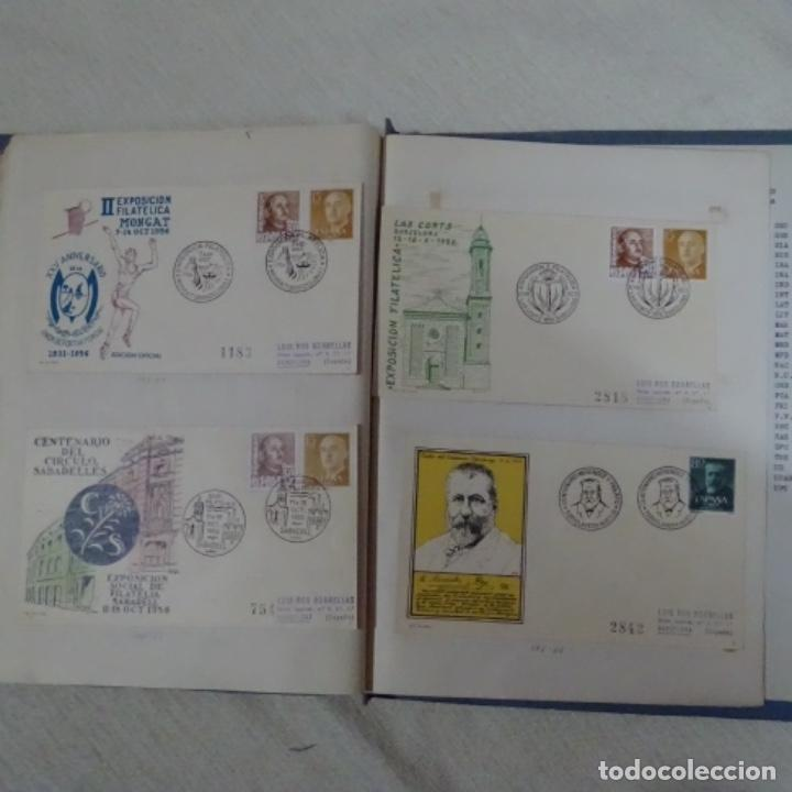 Sellos: Album 111 sobres con sellos y matasellos especiales.años1955-56.bien detallado. - Foto 32 - 155867802