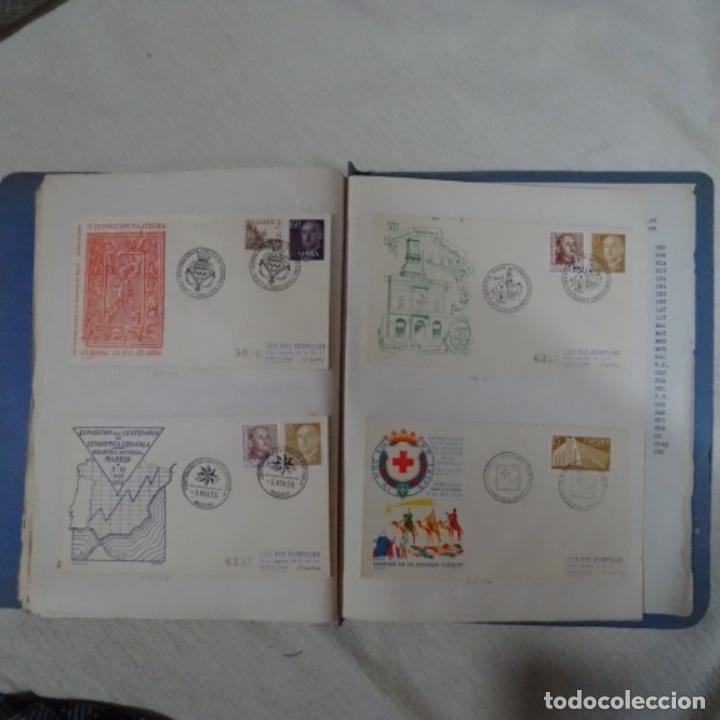 Sellos: Album 111 sobres con sellos y matasellos especiales.años1955-56.bien detallado. - Foto 33 - 155867802
