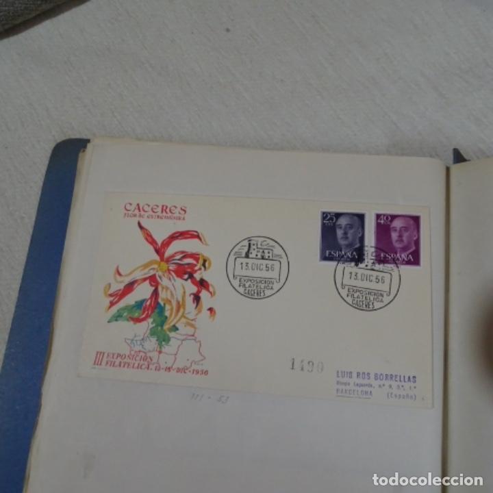 Sellos: Album 111 sobres con sellos y matasellos especiales.años1955-56.bien detallado. - Foto 34 - 155867802