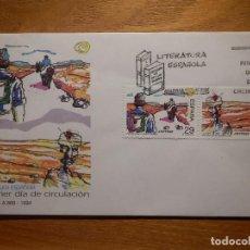 Sellos: SOBRE PRIMER DÍA CIRCULACIÓN S.P.D - LITERATURA ESPAÑOLA EDIFIL 3303, 3304 -S.F.C.A-868-1994. Lote 156011762