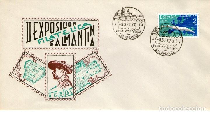 SOBRE DE LA II EXPOSICION FILATELICA SALMANTINA 1970 (Sellos - Historia Postal - Sello Español - Sobres Primer Día y Matasellos Especiales)