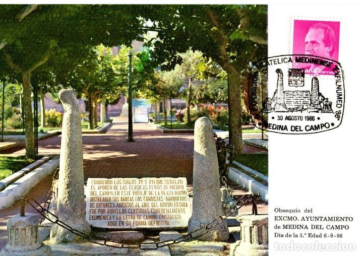 TARJETA POSTAL EXFILNUMED 86 (Sellos - Historia Postal - Sello Español - Sobres Primer Día y Matasellos Especiales)