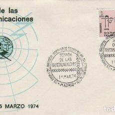 Sellos: AÑO 1974, MADRID, 25 ANIVERSARIO ASOCIACION DE INGENIEROS TECNICOS DE TELECOMUNICACIONES, SOBRE . Lote 156544254