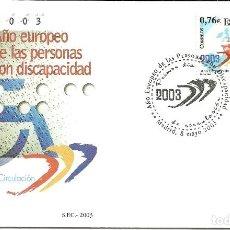 Sellos: SOBRE PRIMER DIA DEL SFC AÑO EUROPEO PERSONAS CON DISCAPACIDAD EDIFIL 3985. Lote 156601498
