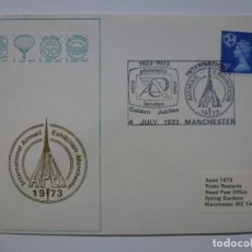 Sellos: SOBRE INTERNATIONAL AIRMAIL EXHIBITION MANCHESTER. 1973. SELLOS MATASELLADOS . Lote 156731442