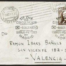 Sellos: SPD ESPAÑA 1948 - CENTENARIO FERROCARRIL, EDIFIL 1037. Lote 158447978