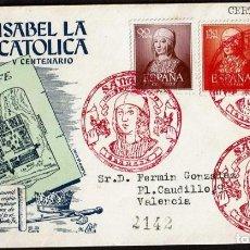 Sellos: SPD ESPAÑA 1951 - V CENT. NAC. ISABEL LA CATOLICA. Lote 158459730