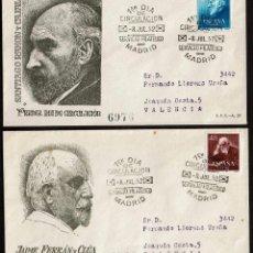 Sellos: SPD ESPAÑA 1952 - DOCTORES RAMON Y CAJAL Y FERRAN. Lote 158591086