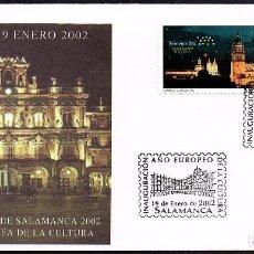 Sellos: SOBRE CONMEMORATIVO CIUDAD EUROPEA DE LA CULTURA SALAMANCA 2.002. Lote 158635986