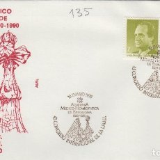 Sellos: 1990 BARCELONA , ACADEMIA MÉDICO HOMEOPATICA , MEDICINA 45 CONGRESO INT . SOBRE ALFIL . Lote 158654282