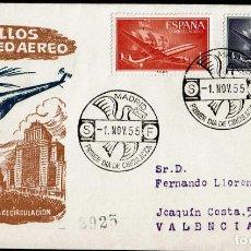 Sellos: SPD ESPAÑA 1955 - SUPERCONSTELLATIO Y NAO SANTA MARIA, EDIFIL 1170 Y 1172. Lote 158695194