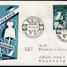 Sellos: SPD ESPAÑA 1955 - I CENT. TELÉGRAFO, EDIFIL 1180 Y 1181. Lote 158695734
