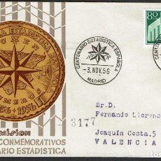 Sellos: SPD ESPAÑA 1956 - I CENT. ESTADÍSTICA ESPAÑOLA. Lote 158697130