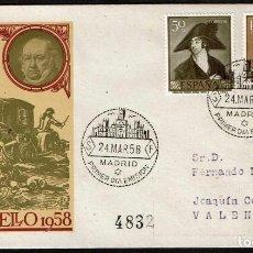 Francobolli: SPD ESPAÑA 1958 - GOYA, EDIFIL 1210 Y 1212. Lote 190452495