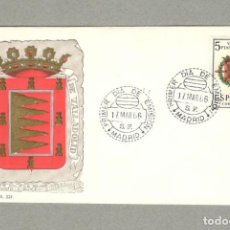 Sellos: ESPAÑA - EDIFIL 1698 ESCUDO DE VALLADOLID SOBRE PRIMER DIA, MATASELLOS MADRID - SFC. Lote 158713166
