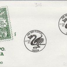 Timbres: 1990 CALELLA ( BARCELONA ), XXIII EXPOSICION FILATÉLICA . . SOBRE ALFIL . Lote 158717822