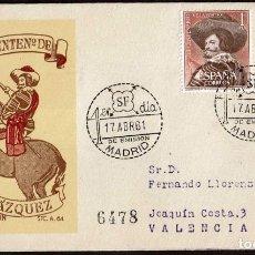 Sellos: SPD ESPAÑA 1961 - III CENT. MUERTE VELAZQUEZ, EDIFIL 1340 Y 1341. Lote 158746034