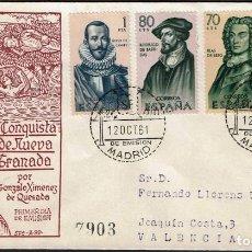 Sellos: SPD ESPAÑA 1961 - FORJADORES AMERICA, EDIFIL 1374 A 1377. Lote 158747446