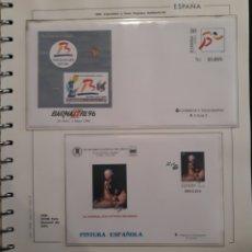 Selos: HOJA PARA ALBUM + SOBRES EXPOSICIÓN FERIA FILATÉLICA Y PINTURA ESPAÑOLA 1996. Lote 158826512