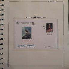 Selos: HOJA PARA ALBUM + SOBRE FERIA NACIONAL DEL SELLO MADRID 1996. Lote 158827034
