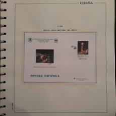 Selos: HOJA PARA ALBUM + SOBRE FERIA NACIONAL DEL SELLO MADRID 1996. Lote 158827554