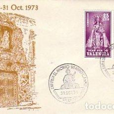 Sellos: AÑO 1973, VALENCIA, 95 ANIVERSARIO DE LA CAJA DE AHORROS DE VALENCIA, SOBRE DE ALFIL. Lote 159268962