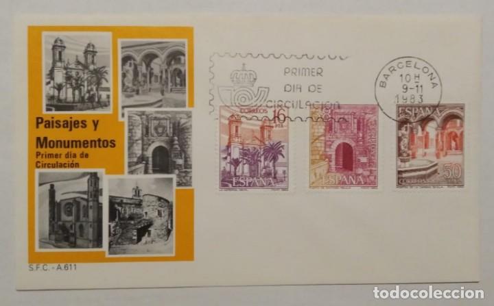 Sellos: Primer día de circulación 9-11-1983 Día del sello, Paisajes y monumentos - Completa. - Foto 2 - 159586958