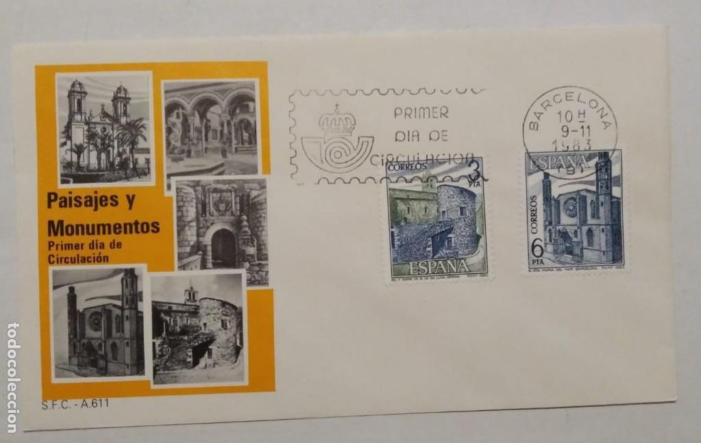 Sellos: Primer día de circulación 9-11-1983 Día del sello, Paisajes y monumentos - Completa. - Foto 3 - 159586958