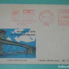 Sellos: FRANQUEO MECÁNICO DRAGADOS Y CONSTRUCCIONES, N.5933 - 2A EXPOSICIÓN FILATELICA.DE F.M. - 25/11/1973. Lote 159937350