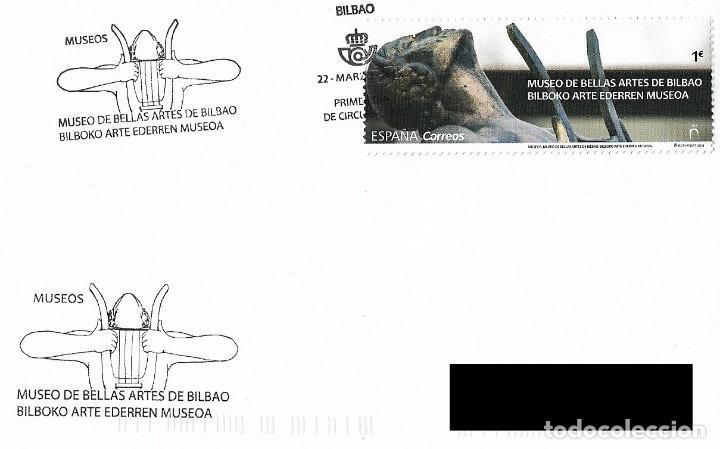 ESPAÑA. SOBRE PRIMER DIA. MUSEO DE BELLAS ARTES DE BILBAO. 2019 (Sellos - Historia Postal - Sello Español - Sobres Primer Día y Matasellos Especiales)