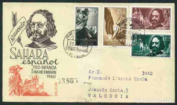 SPD SAHARA ESPAÑOL 1960 - PRO INFANCIA (Sellos - Historia Postal - Sello Español - Sobres Primer Día y Matasellos Especiales)
