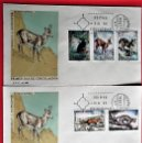 Sellos: ESPAÑA. SPD 2102/06 FAUNA: TOPO DE AGUA, REBECO, LOBO, MELONCILLO Y GINETA. 1972. MATASELLO PRIMER. Lote 160976973