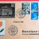 Sellos: ESPAÑA. SPD SOBRE CARTULINA. MATASELLO: SANT JORDI PATRÓ DE CATALUNYA. 23-27 ABRIL 1981 BARCELONA. Lote 160977025