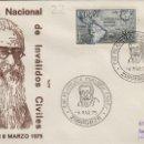 Sellos: 1975 ZARAGOZA , X EXPOSICION FILATÉLICA INVÁLIDOS CIVILES - SOBRE ALFIL . Lote 161030730