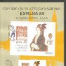 Sellos: ESPAÑA EXFILNA´90 EDIFIL NUM. 3068 HOJA FABRICA NACIONAL DE MONEDA Y TIMBRE. Lote 161103746