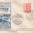 Sellos: VII CENTENARIO FUNDACION DE TOLOSA (GUIPUZCOA) 1956. MATASELLOS EN SOBRE CIRCULADO DE EG. MUY RARO.. Lote 161105518
