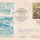 Sellos: VII CENTENARIO FUNDACION DE TOLOSA (GUIPUZCOA) 1956. MATASELLOS EN SOBRE CIRCULADO DE DP. RARO.. Lote 161105694