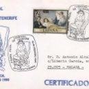 Sellos: CARNAVAL II EXPOSICION, SANTA CRUZ DE TENERIFE (CANARIAS) 1990. MATASELLOS EN SOBRE CIRCULADO. RARO.. Lote 161109678