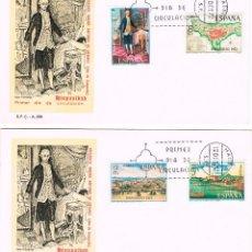 Sellos: EDIFIL 2107/10, HISPANIDAD 1972: PUERTO RICO, PRIMER DIA DE 12-10-1972 2 SOBRES DEL SFC. Lote 221666098