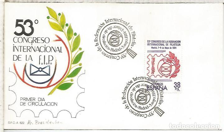 MADRID CONGRESO FEDERACION INTERNACIONAL DE FILATELIA FIP (Sellos - Historia Postal - Sello Español - Sobres Primer Día y Matasellos Especiales)