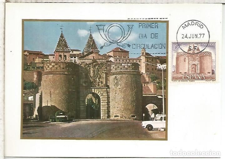 TARJETA PUERTA DE BISAGRA TOLEDO (Sellos - Historia Postal - Sello Español - Sobres Primer Día y Matasellos Especiales)